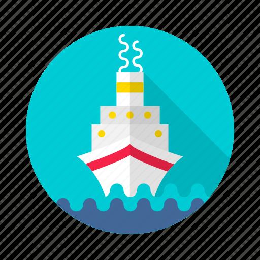 boat, craft, cruise, marine, ship, stimmer, titanic icon