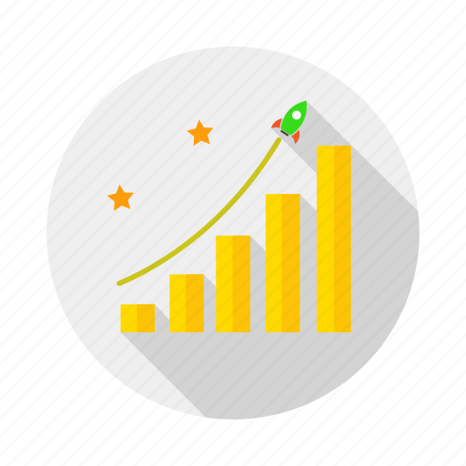 business, chart, growth, report, rocket, success icon