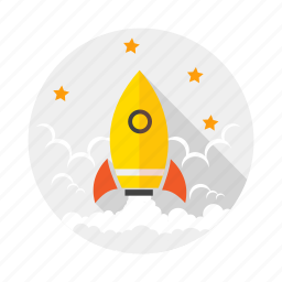 launch, mission, rocket, space icon
