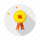 award, badge, ribbon, seal, win icon