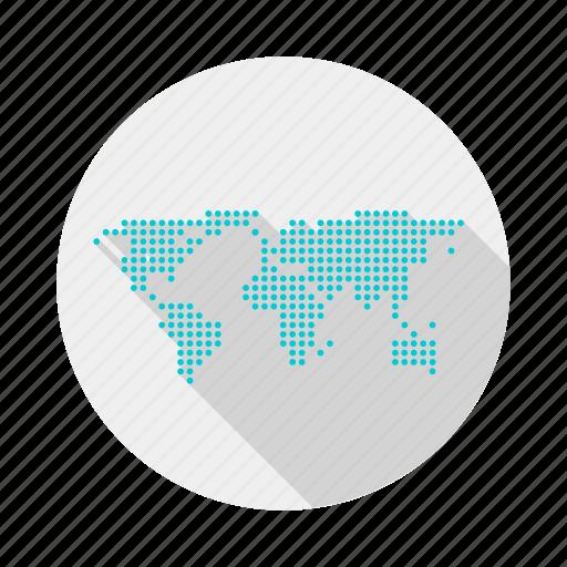 globe, goal, map, world icon