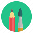 brush, design, draw, drawing, paint, pencil, plume icon