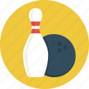 ball, bowling, bowling pins, game, sport icon