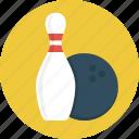 ball, bowling, bowling pins, game, sport