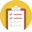 board, checklist, document, list, todo icon