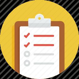 board, checklist, document, list, todo icon