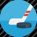 hockey, hockey stick, puck, sport