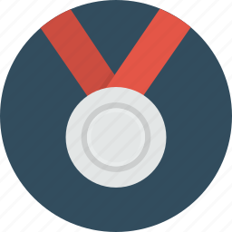 award, challenge, medal, prize, rank, silver icon