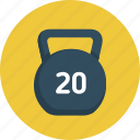 exercise, fitness, gym, sport, weight icon