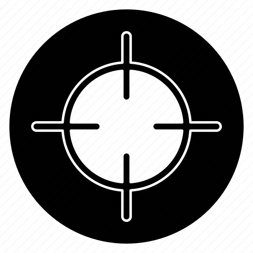aim, bullseye, focus, goal, sniper, success, target icon