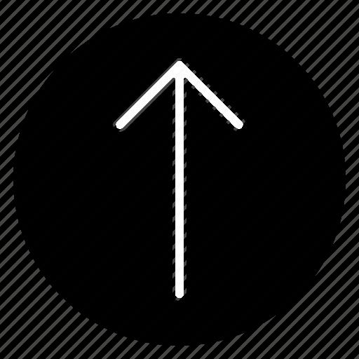 arrow, direction, navigation, top icon