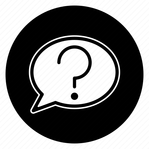 ask, bubble, chat, faq, question, questions, support icon