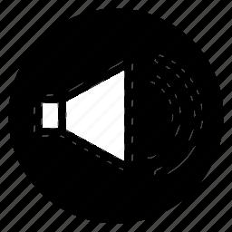 audio, loud, media, sound, speaker, volume icon