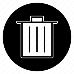 bin, delete, garbage, recycle, trash icon