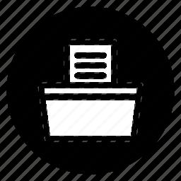 fax, round icon
