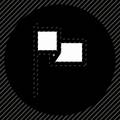 flag, round icon