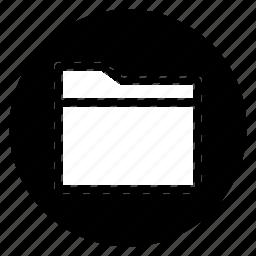folder, round icon