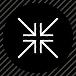 fullscreen, minimise, round icon