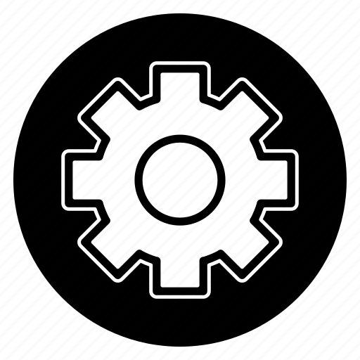 custom, gear, options, preferences, round, settings icon