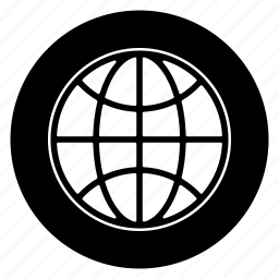 globe, internet, round icon