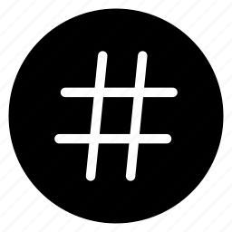 hashtag, hex, round, sign icon