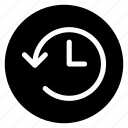 arrow, circle, clock, expired, history, round, time icon