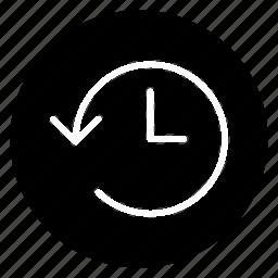 expired, history, round icon