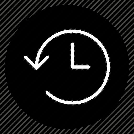 arrow, circle, clock, expired, history, round, time icon