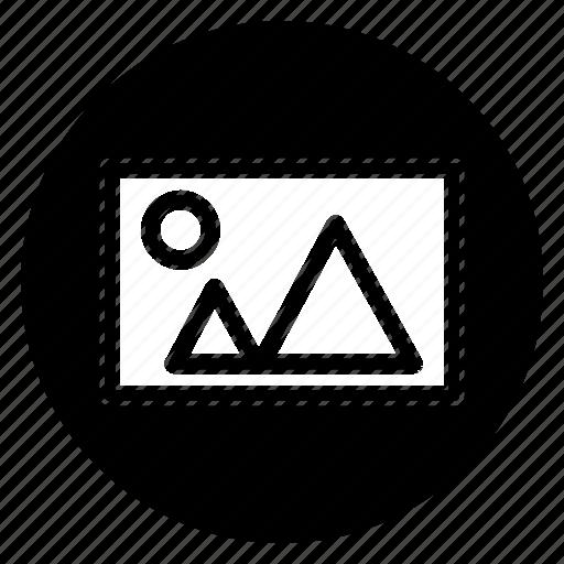 image, landscape, photo, picture, round icon