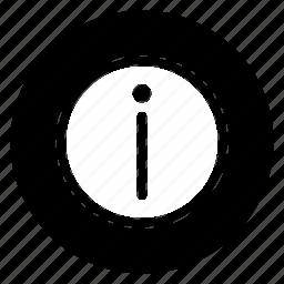 info, round, social icon