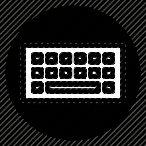 keyboard, round icon