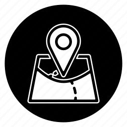 location, map, round icon