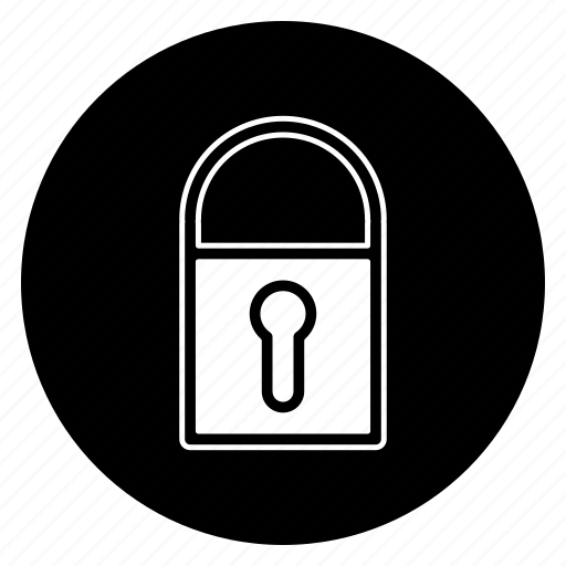 lock, protection, round, secure icon