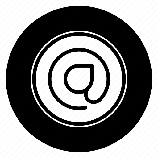 mail, round, sign, social icon