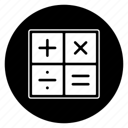 accounting, calculate, math, round icon