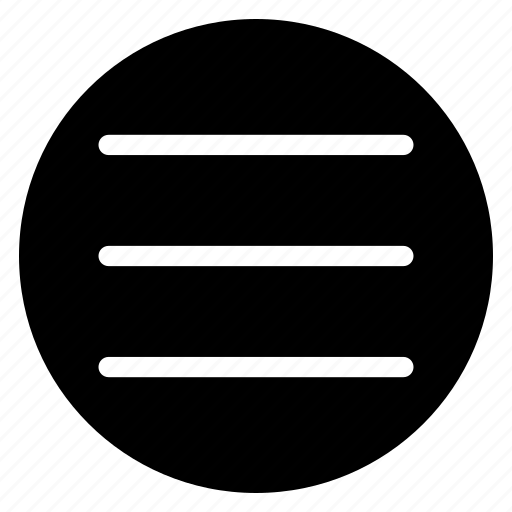 menu, round icon
