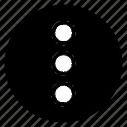menu, round, slide icon