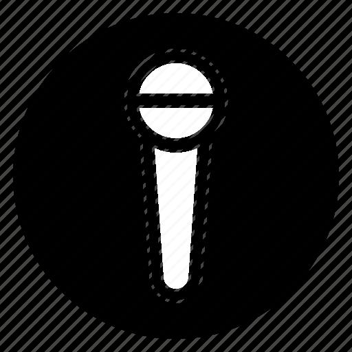 audio, mic, microphone, round, sound icon