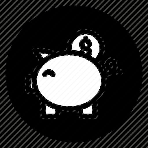 back, finance, money, round icon
