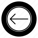 left, move, round icon