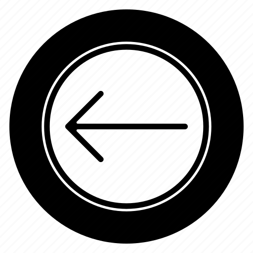 direction, left, move, navigation, round icon