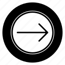 move, right, round icon
