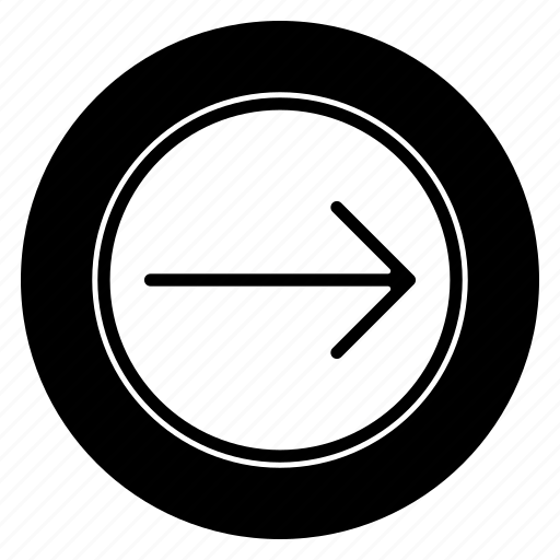 arrows, direction, move, right, round icon
