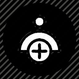 add, avatar, new, round, social, user icon