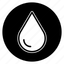 drop, oil, round, water icon
