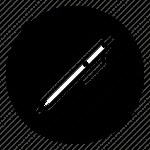 pen, round, signature icon
