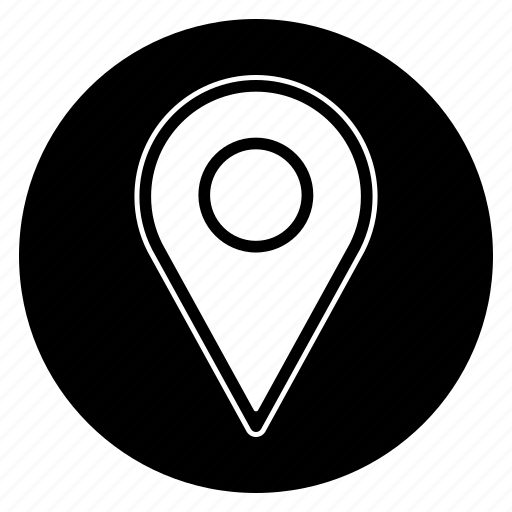 gps, location, map, marker, pin, round icon