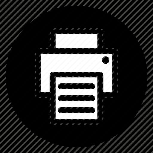 copier, print, printer, printing, round, tool icon
