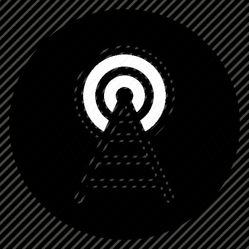broadcast, radio, round, signal icon