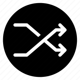 arrow, direction, navigation, random, round icon